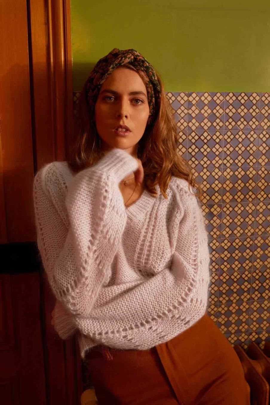 pull femme salicia biscuit - louise misha