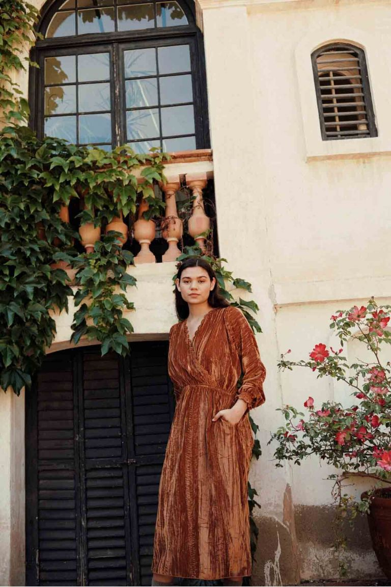 robe femme kady velvet nuts - louise misha