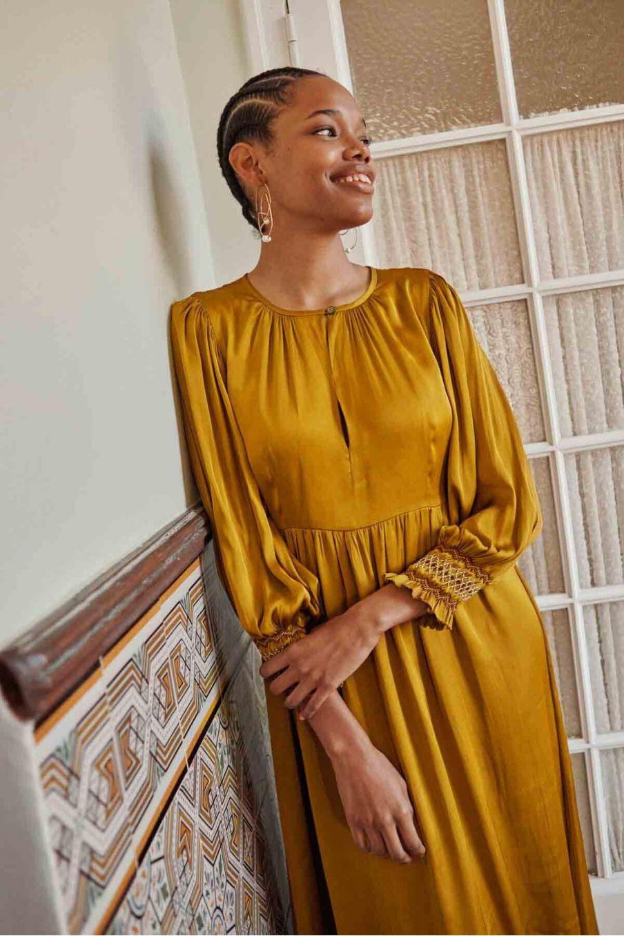 robe femme tuina bronze - louise misha