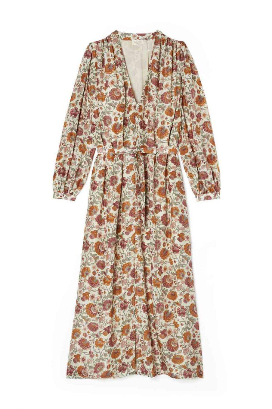 robe femme rama cream bohemian flowers - louise misha