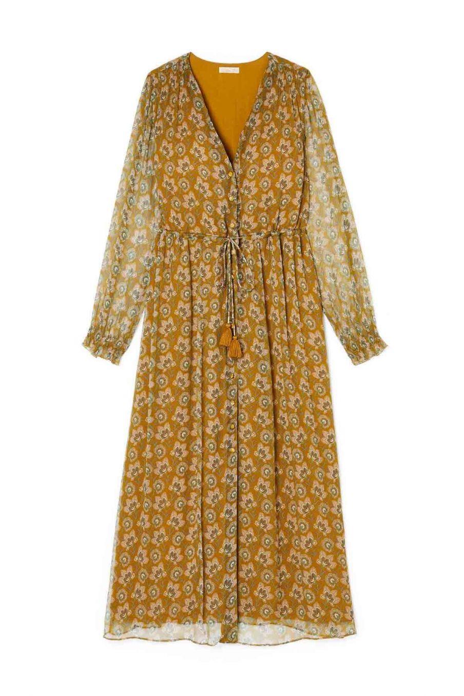 robe femme chally saffron flowers - louise misha
