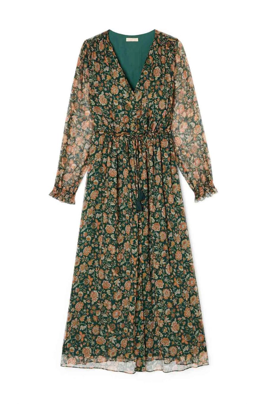 robe femme chally forest indian flowers - louise misha