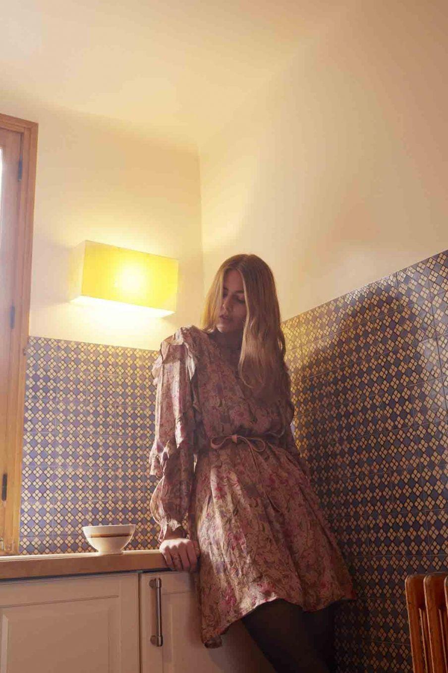 robe femme ottello sand garden flowers - louise misha