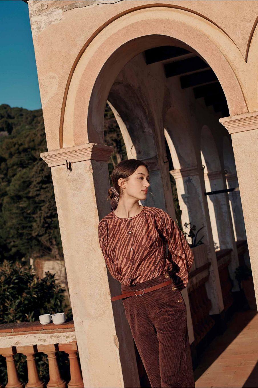 blouse femme jay sienna brush stripes - louise misha