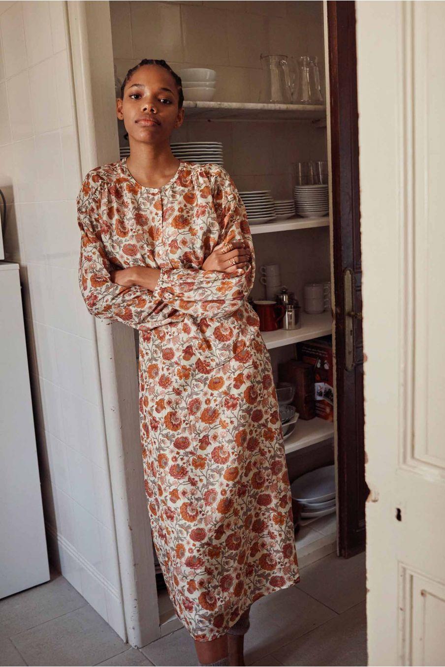 blouse femme jay cream bohemian flowers - louise misha