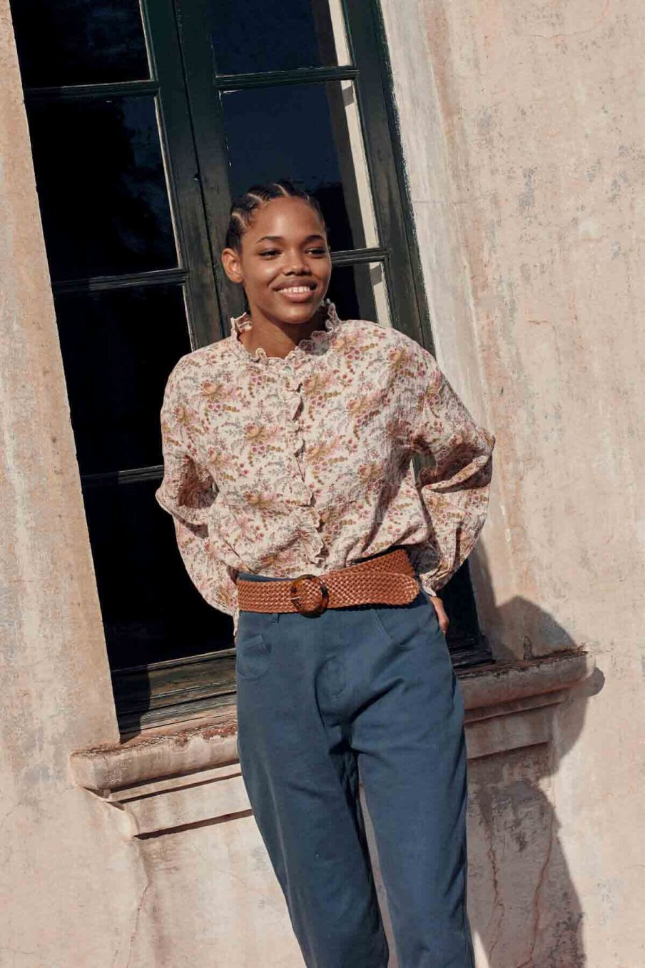 blouse femme ila cream french flowers - louise misha