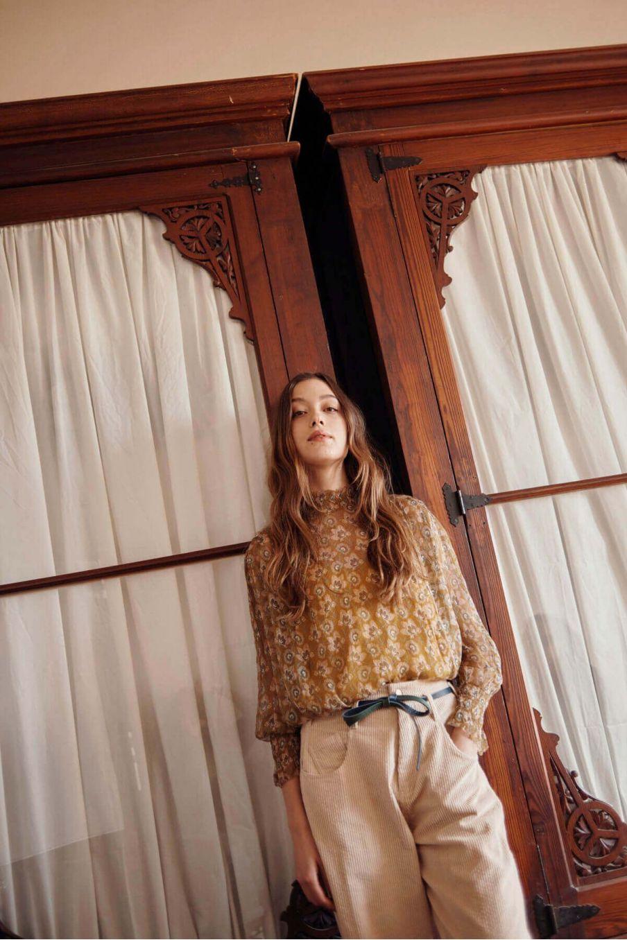 blouse femme alix saffron flowers - louise misha
