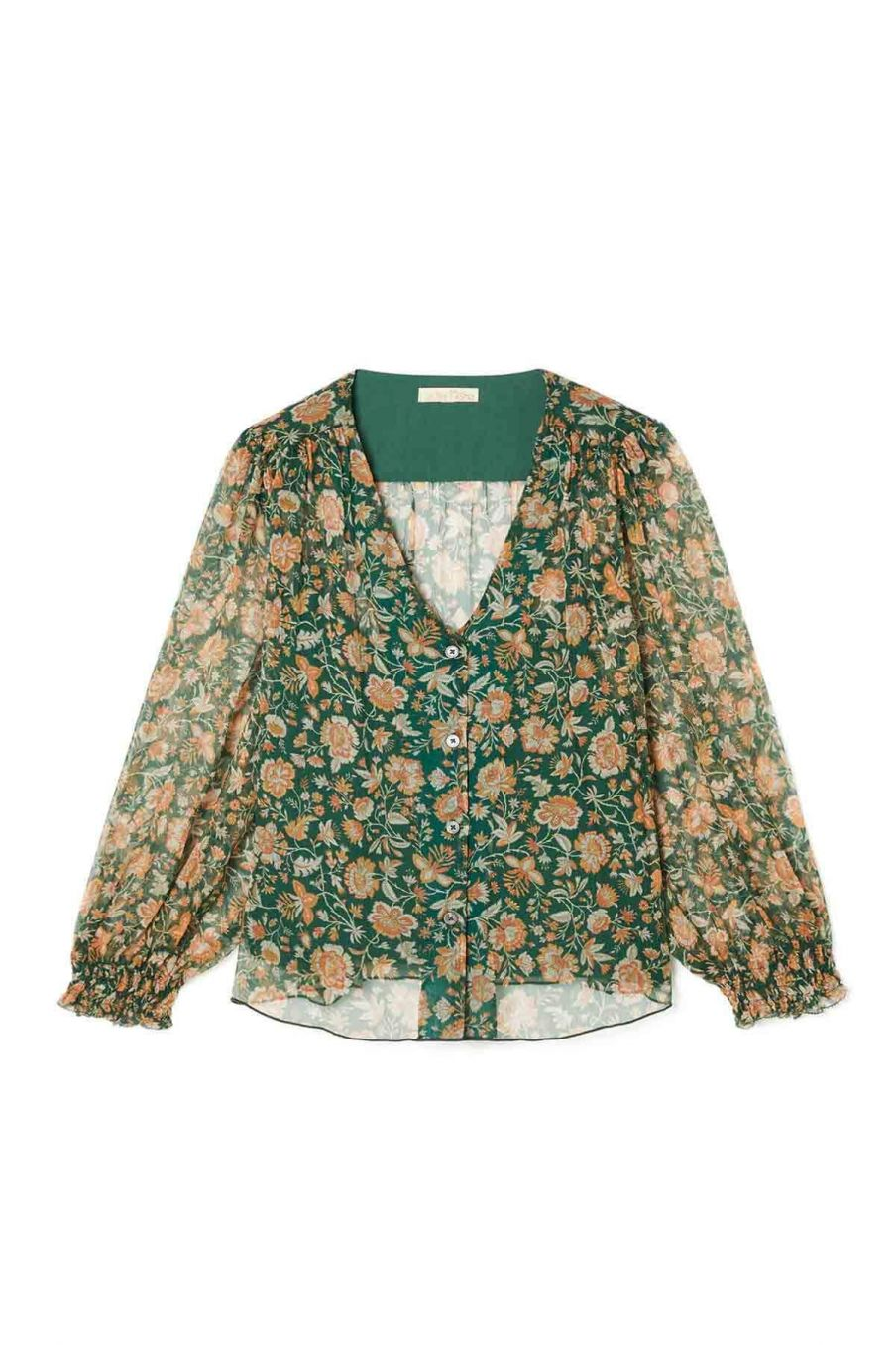blouse femme lorie forest indian flowers - louise misha