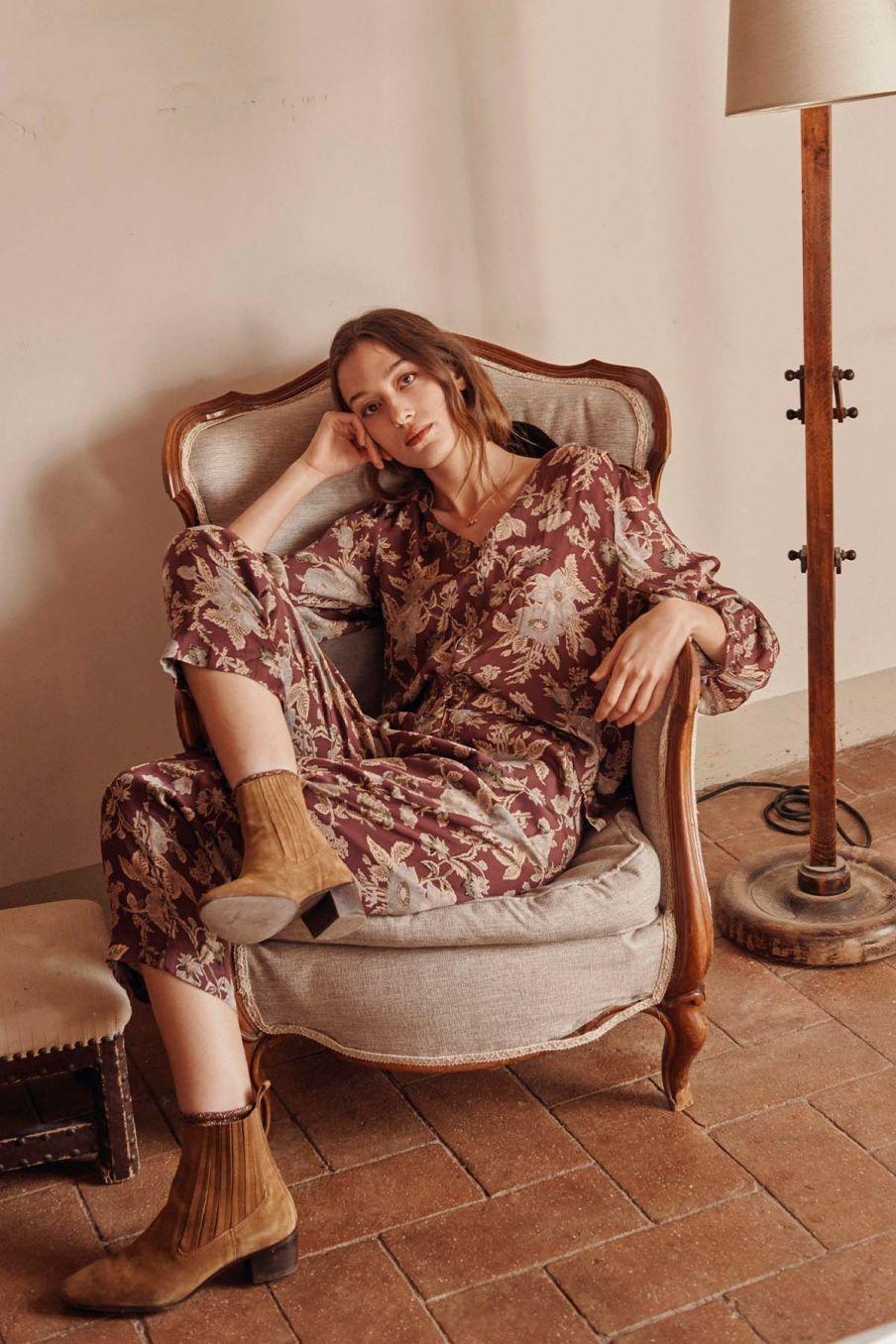 blouse femme lorie parma passiflora - louise misha