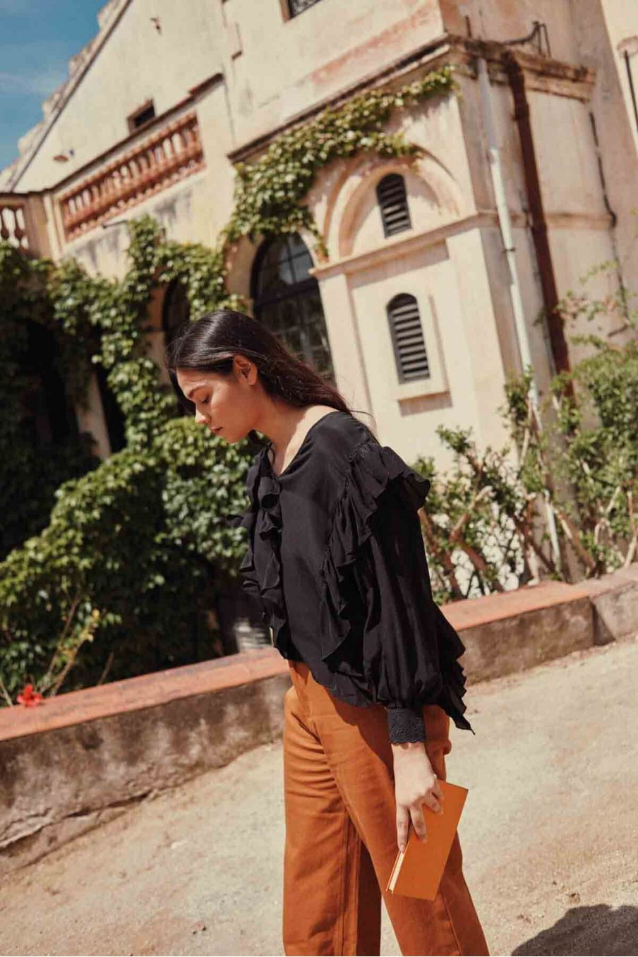 blouse femme aliana charcoal - louise misha