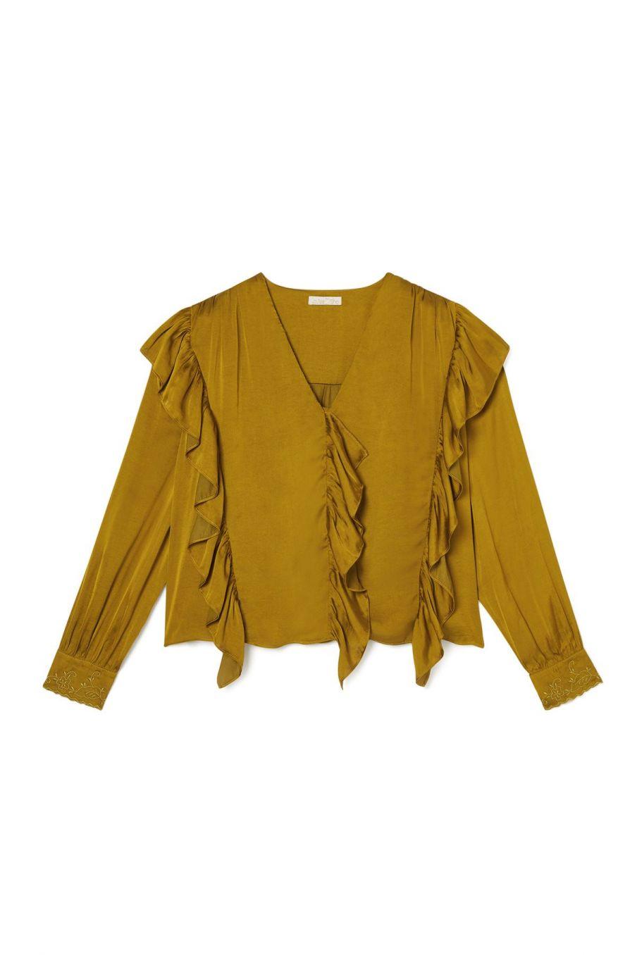 blouse femme aliana bronze - louise misha