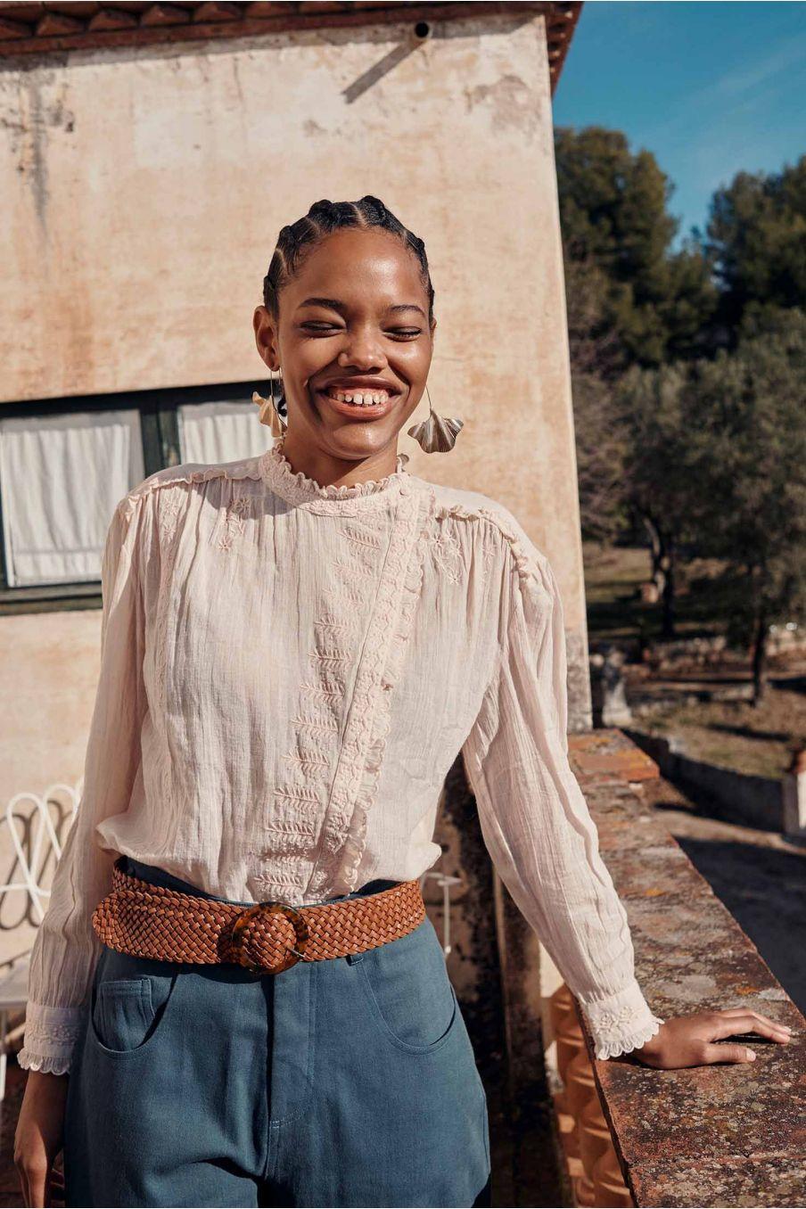 blouse femme coralie blush - louise misha