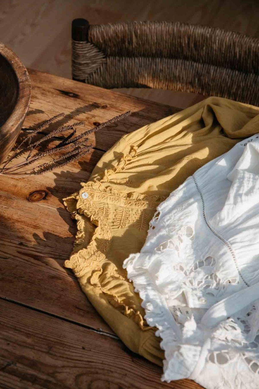 blouse femme coralie caramel - louise misha