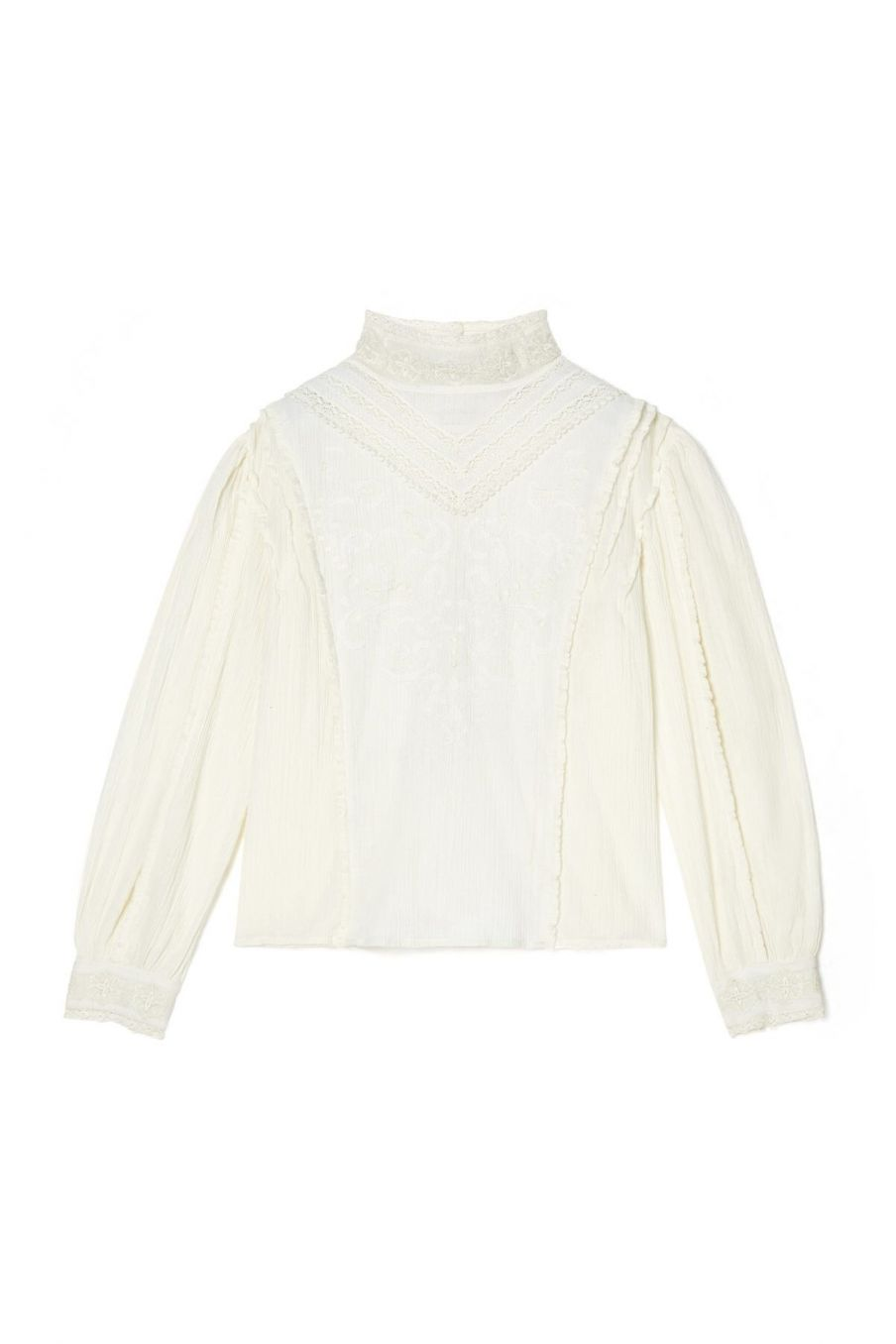 blouse femme lily off-white - louise misha