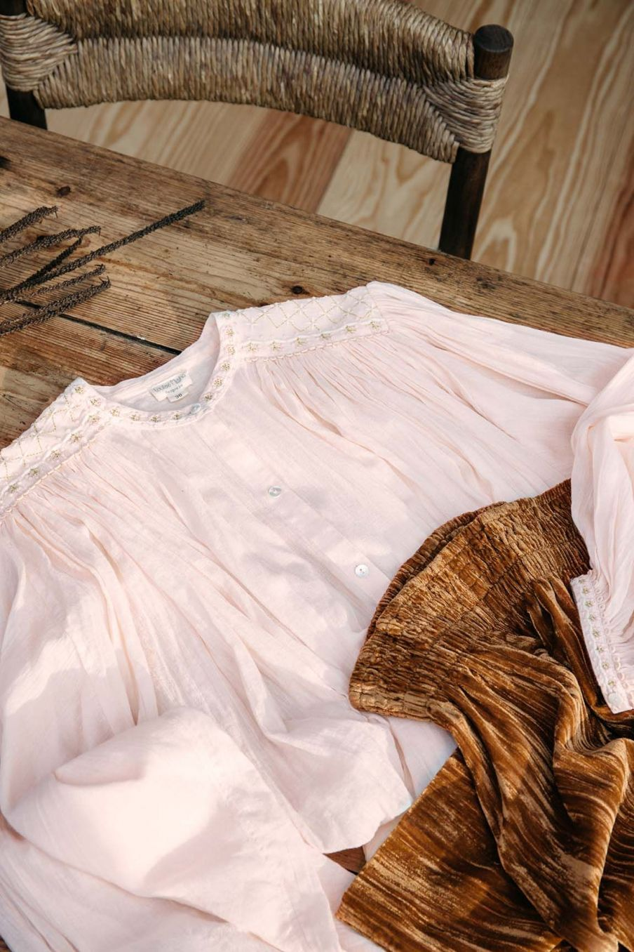 blouse femme jeanne blush - louise misha