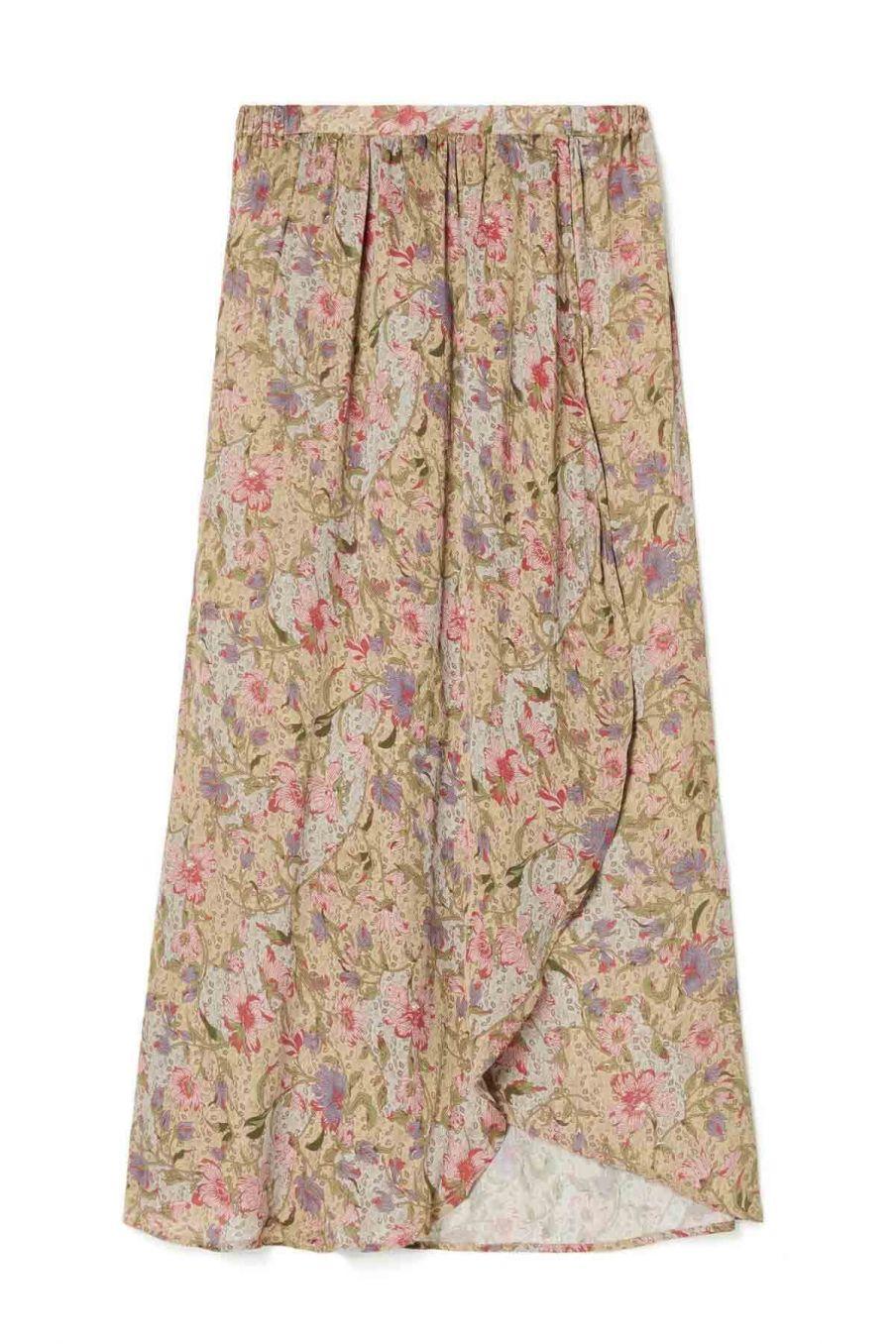 jupe femme luciana sand garden flowers - louise misha