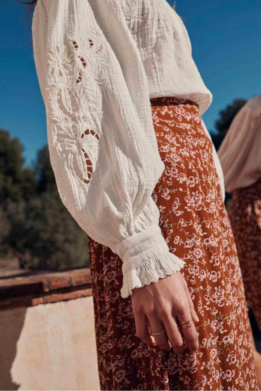 jupe femme isabella cinnamon gipsy flowers - louise misha
