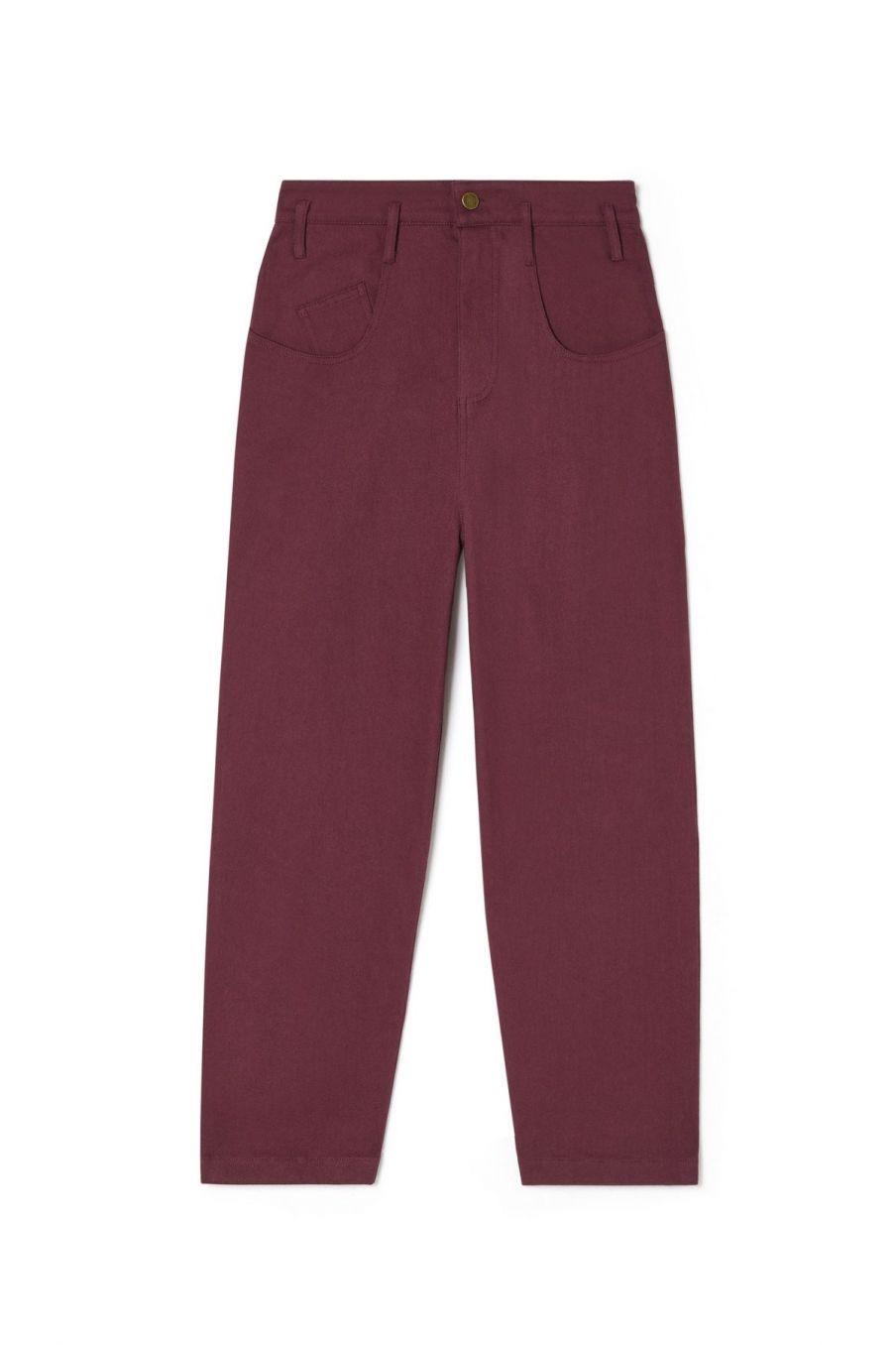 jeans femme lou burgundy - louise misha