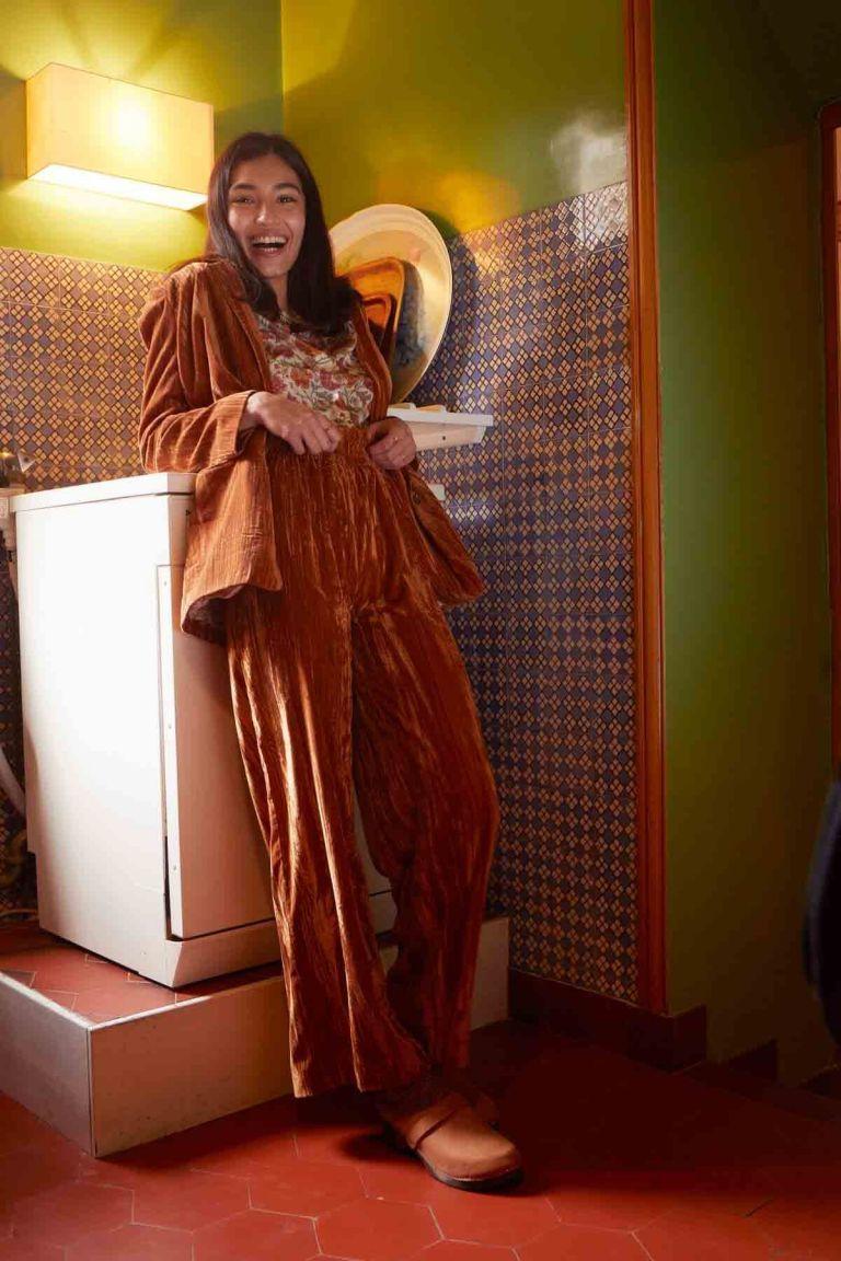 pantalon femme olivia velvet nuts - louise misha