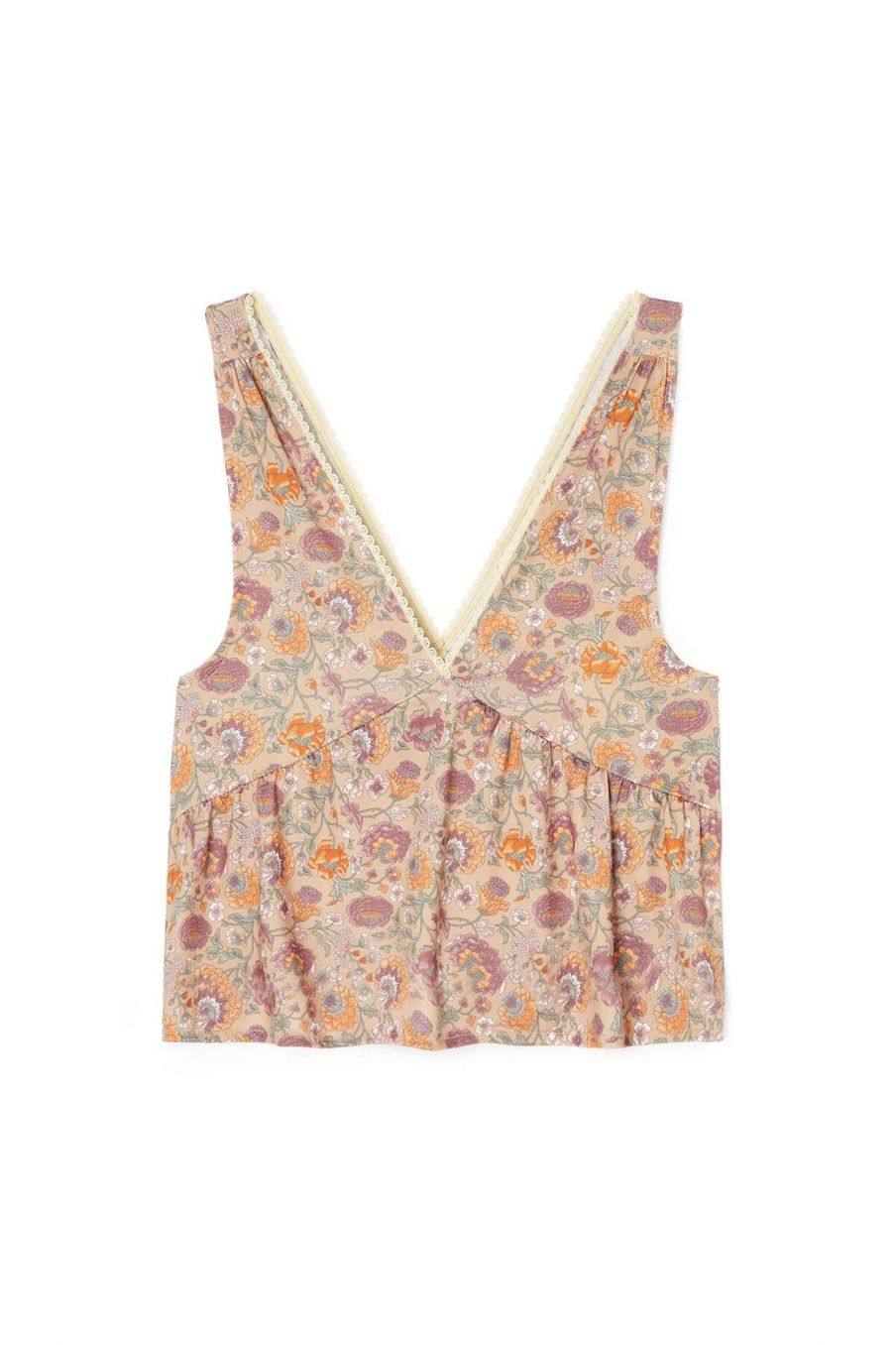haut de pyjama femme lola sand bohemian flowers - louise misha