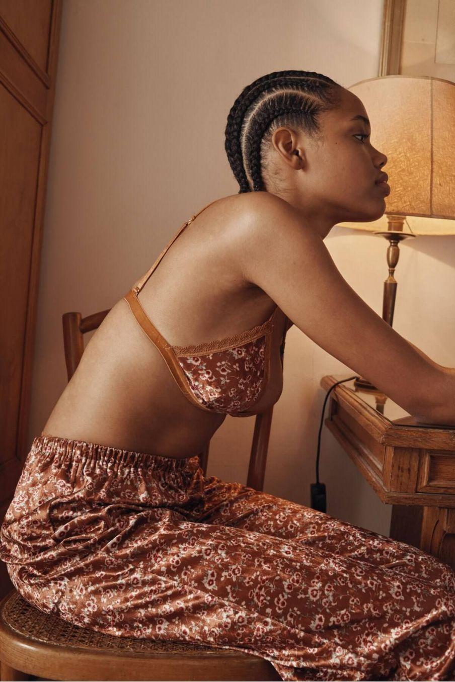 bas de pyjama femme melycia cinnamon gipsy flowers - louise misha
