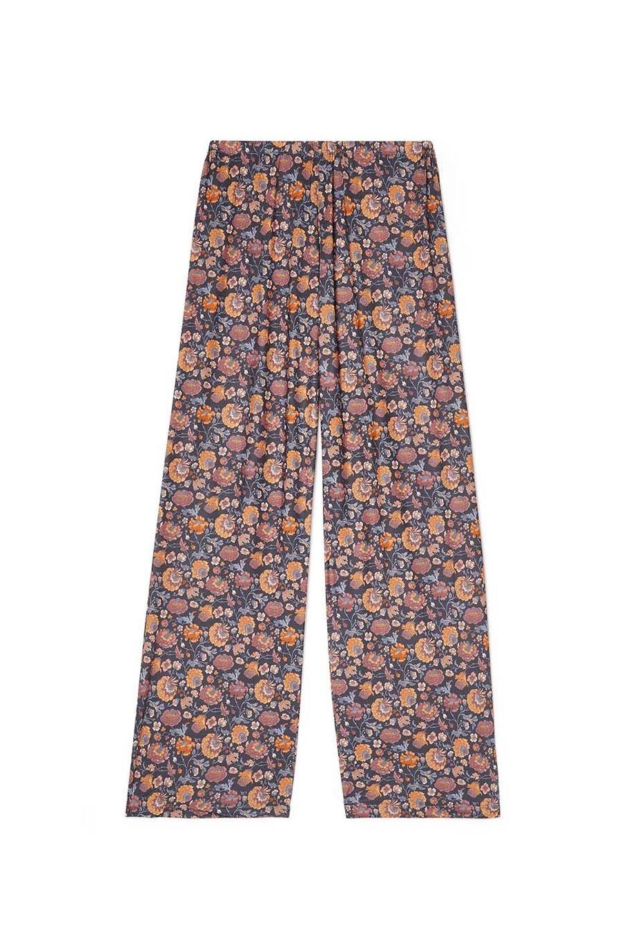 bas de pyjama femme melycia charcoal bohemian flowers - louise misha