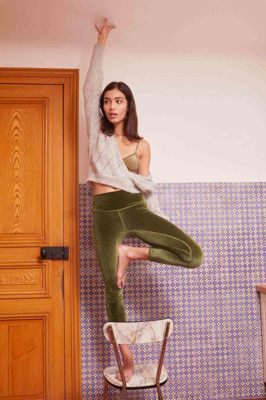 leggings femme navasana khaki - louise misha