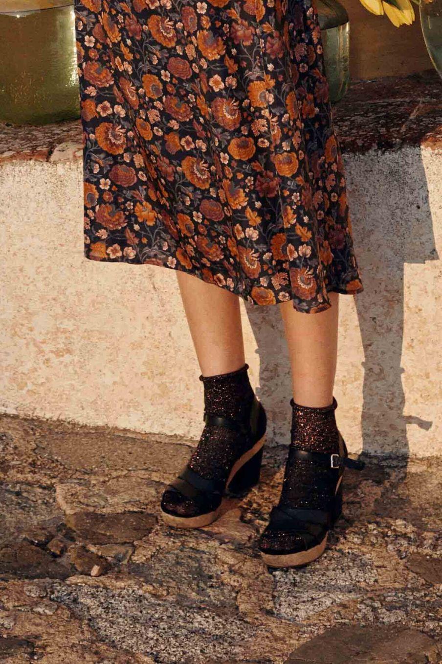 chaussettes femme louisiane midnight - louise misha