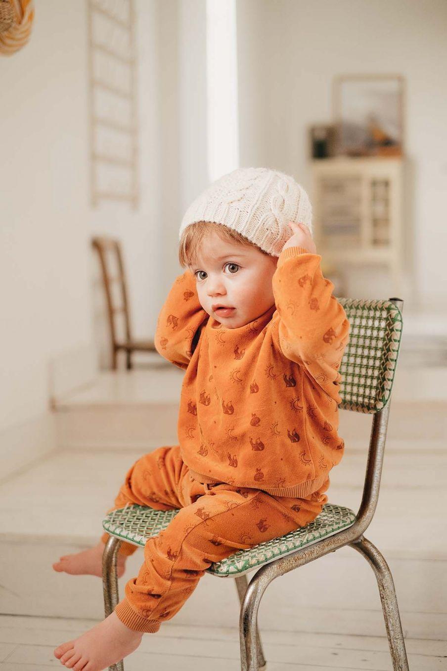 sweatshirt bebe garcon samuel nuts fox - louise misha