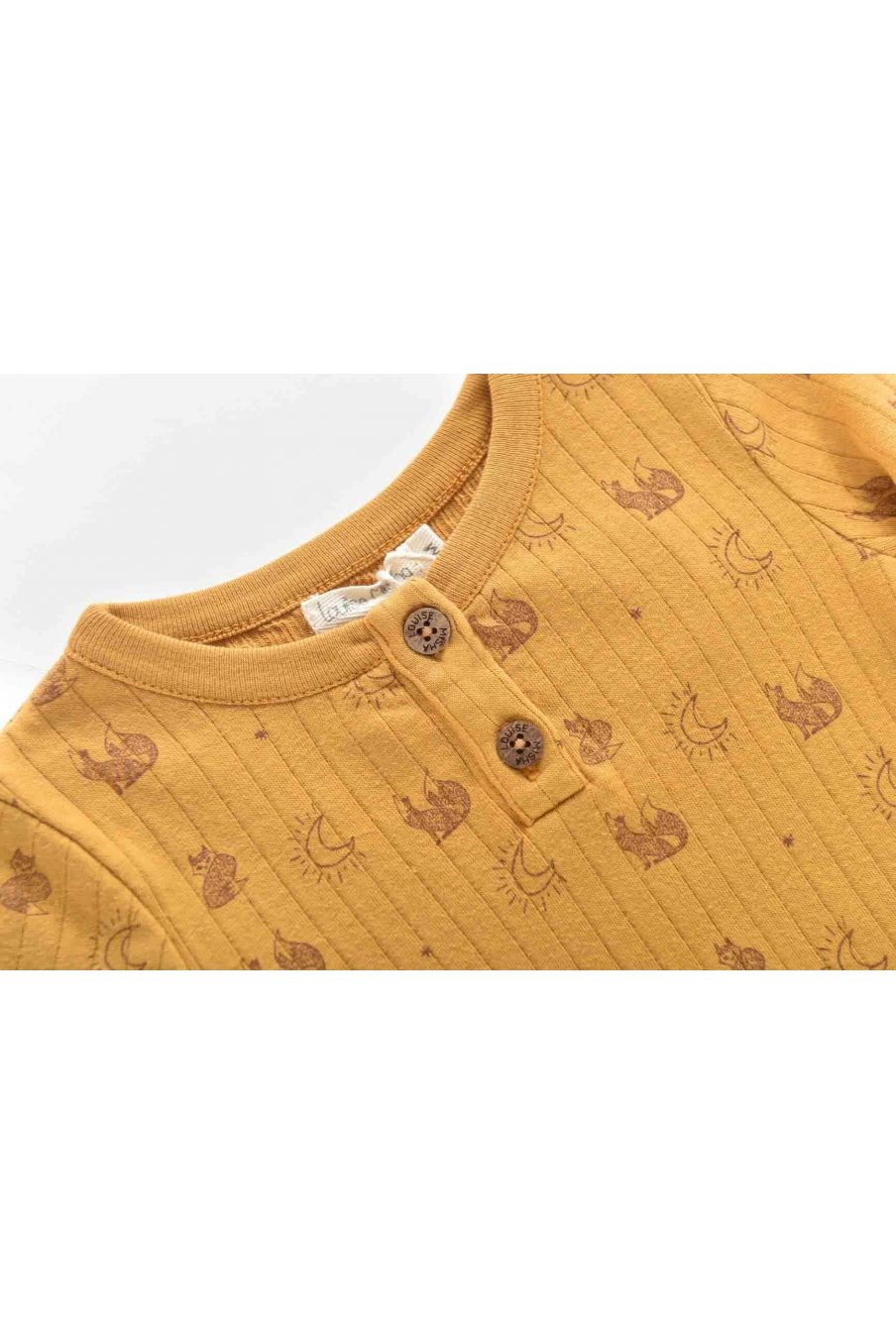 tee shirt bebe garcon apoli mustard fox - louise misha