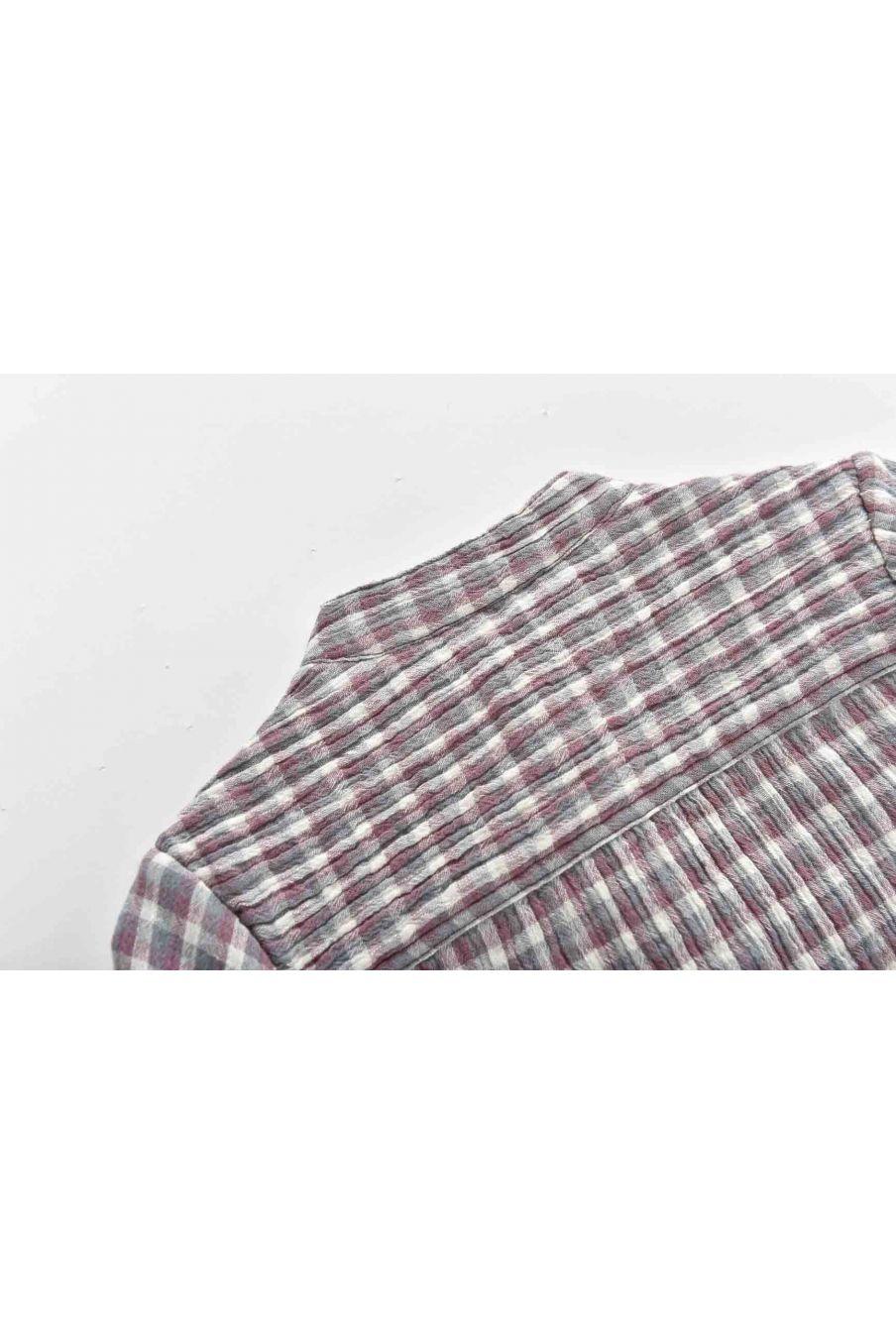 chemise bebe garcon akir parma & sauge check - louise misha