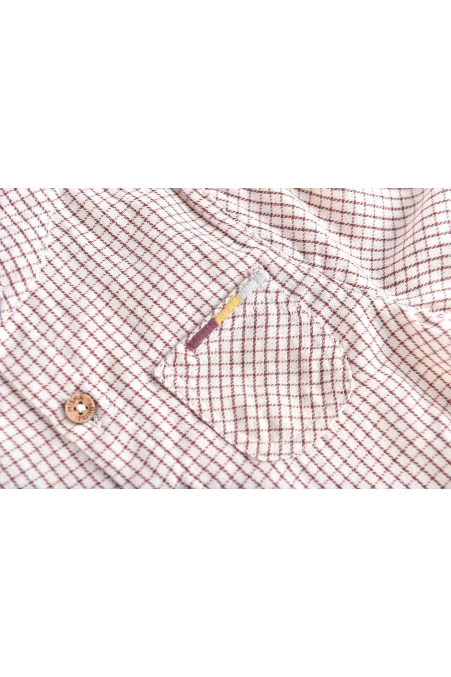 chemise bebe garcon akir cream check - louise misha