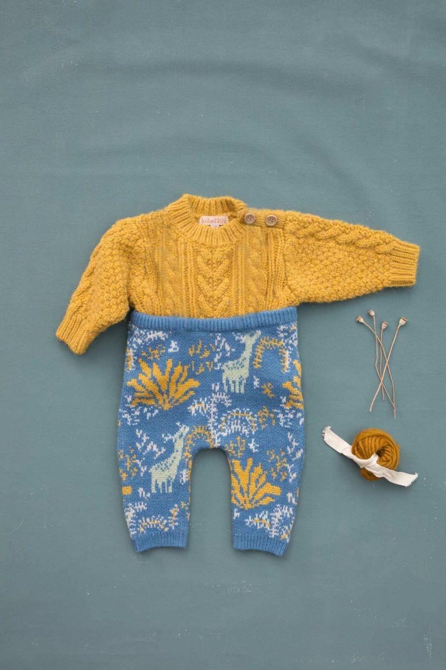 pantalon bebe garcon zulo blue forest - louise misha