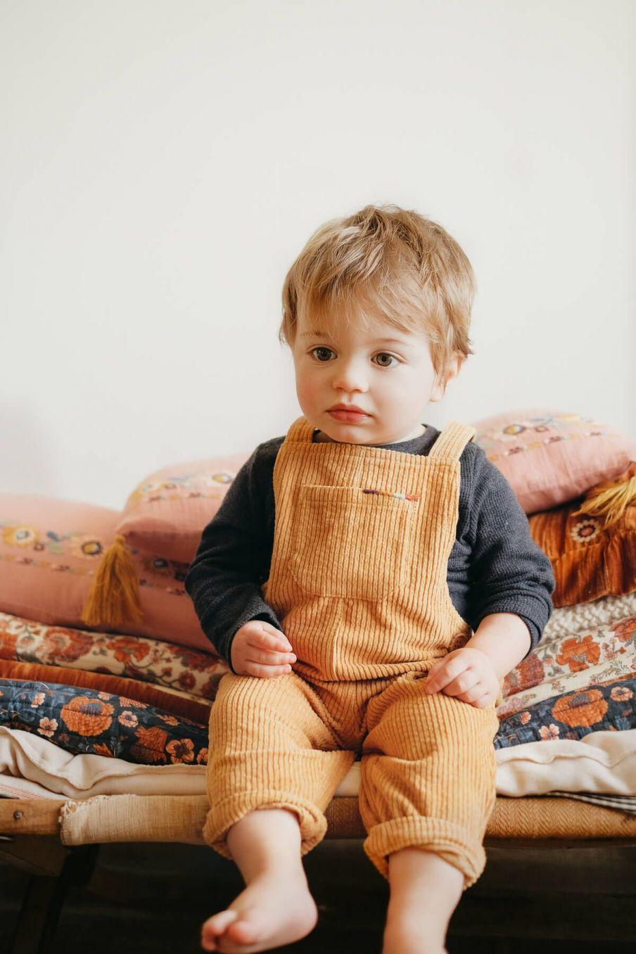salopette bebe garcon alfi camel - louise misha