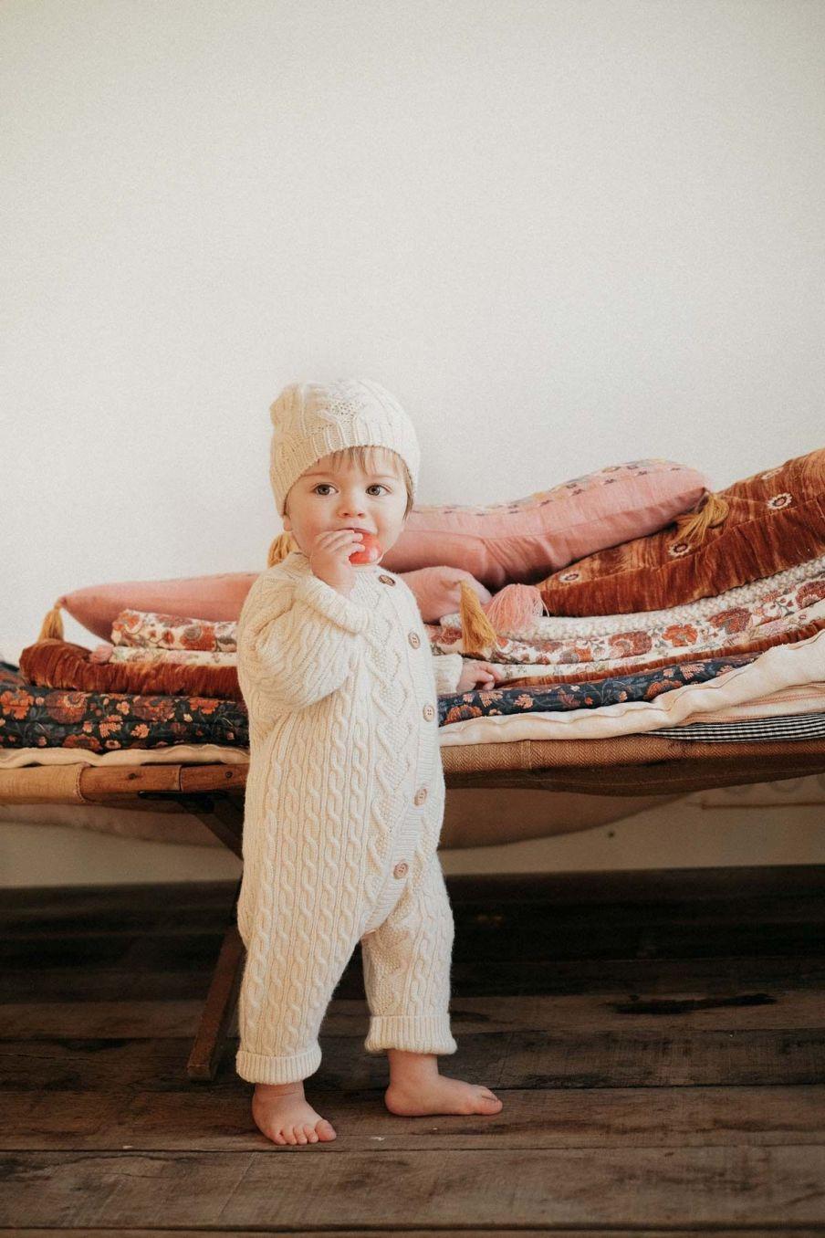 combinaison bebe garcon joseph cream - louise misha