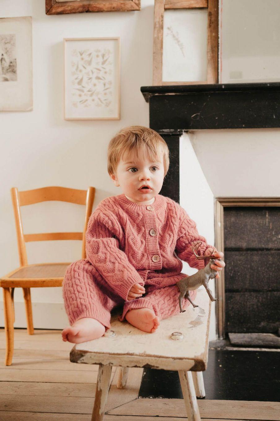 combinaison bebe garcon joseph terracota - louise misha