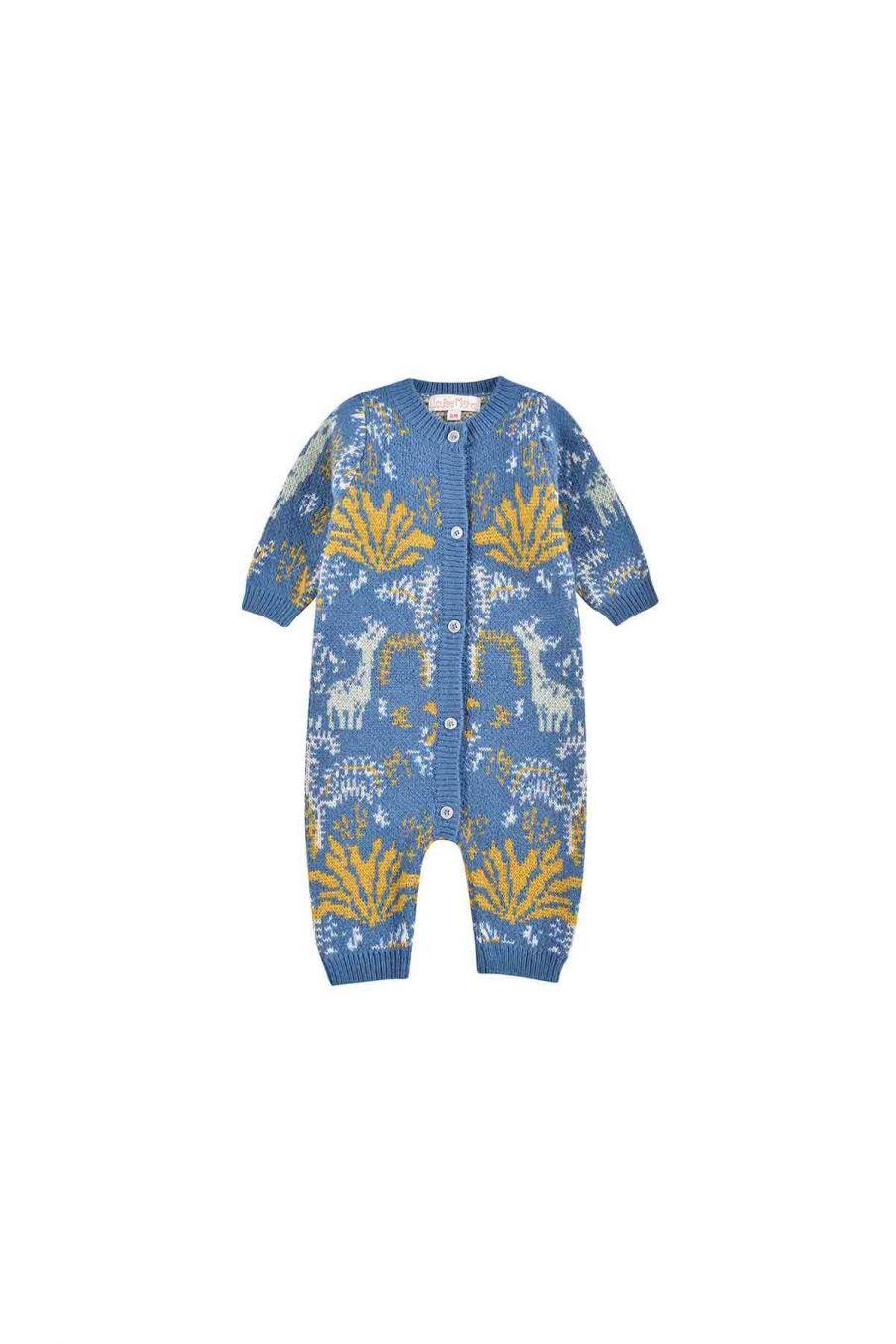 combinaison bebe garcon hubert blue forest - louise misha