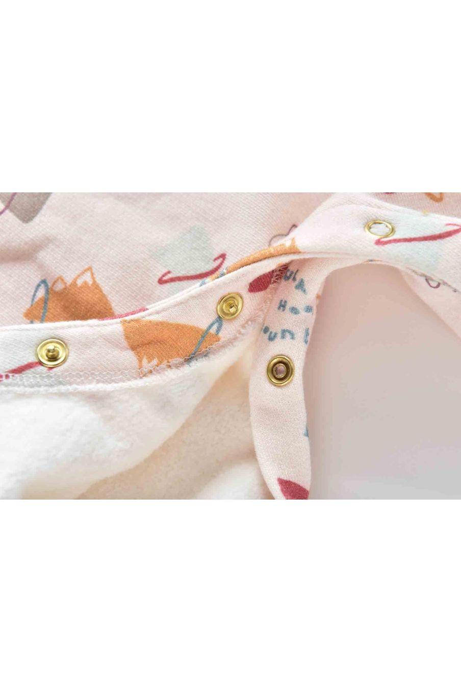 combinaison bebe garcon arin cream mountains - louise misha