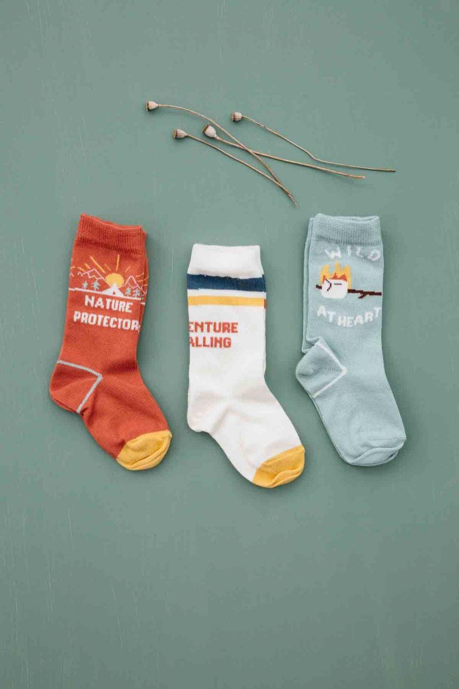 chaussettes bebe garcon chiti sauge - louise misha