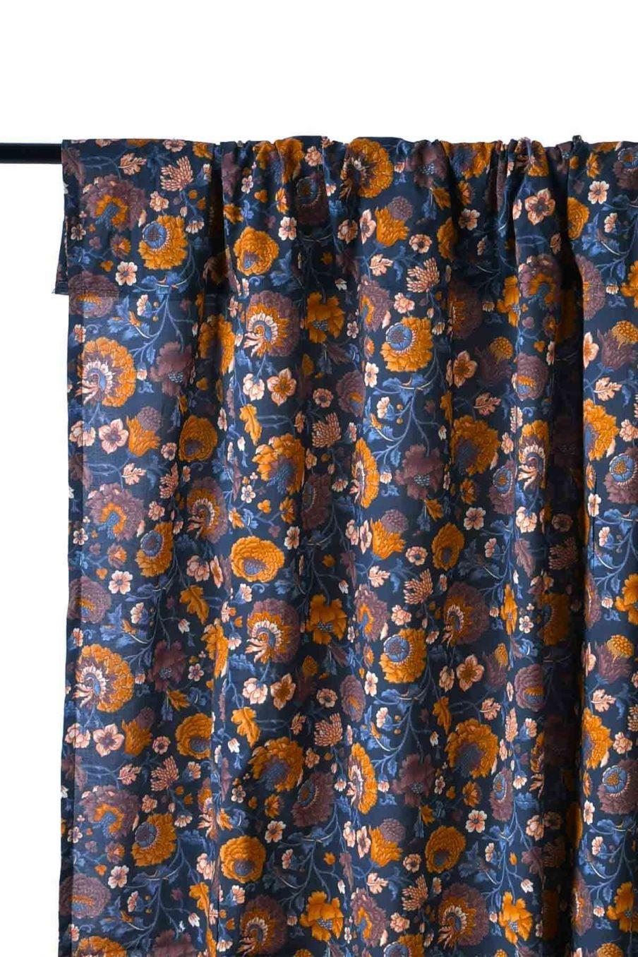rideau maison colette charcoal bohemian flowers - louise misha