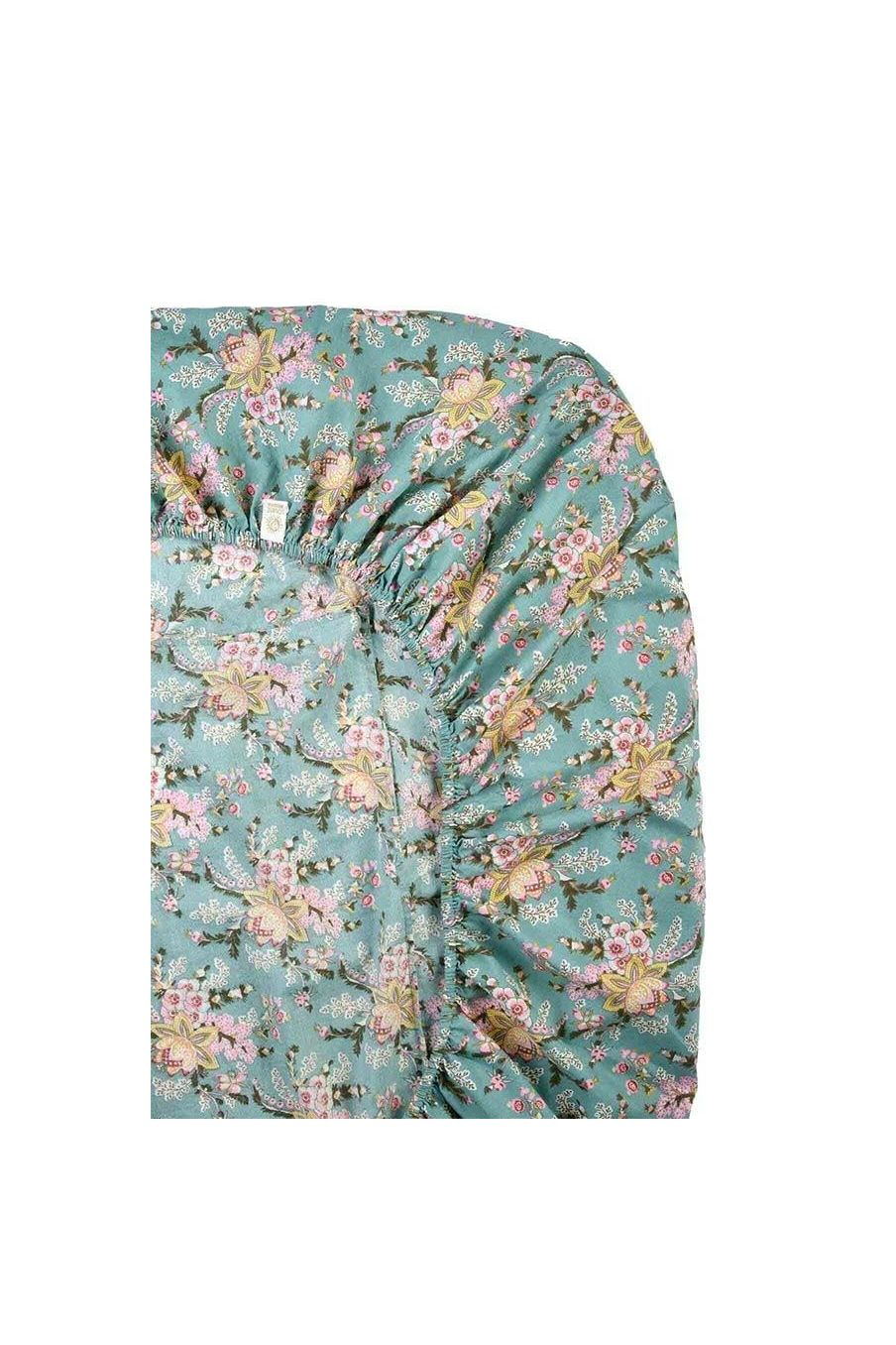 drap-housse maison nicole blue french flowers - louise misha