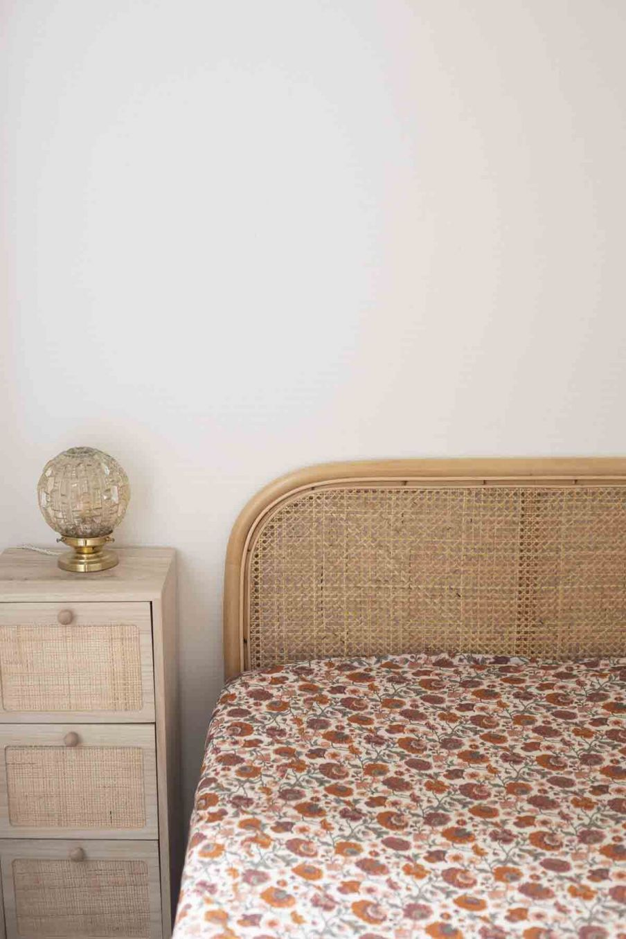 drap-housse maison nicole cream bohemian flowers - louise misha