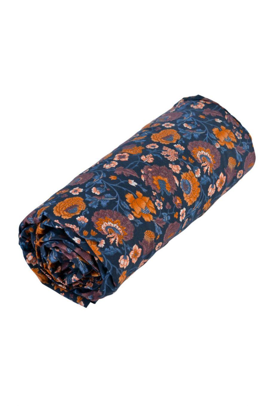 drap-housse maison nicole charcoal bohemian flowers - louise misha