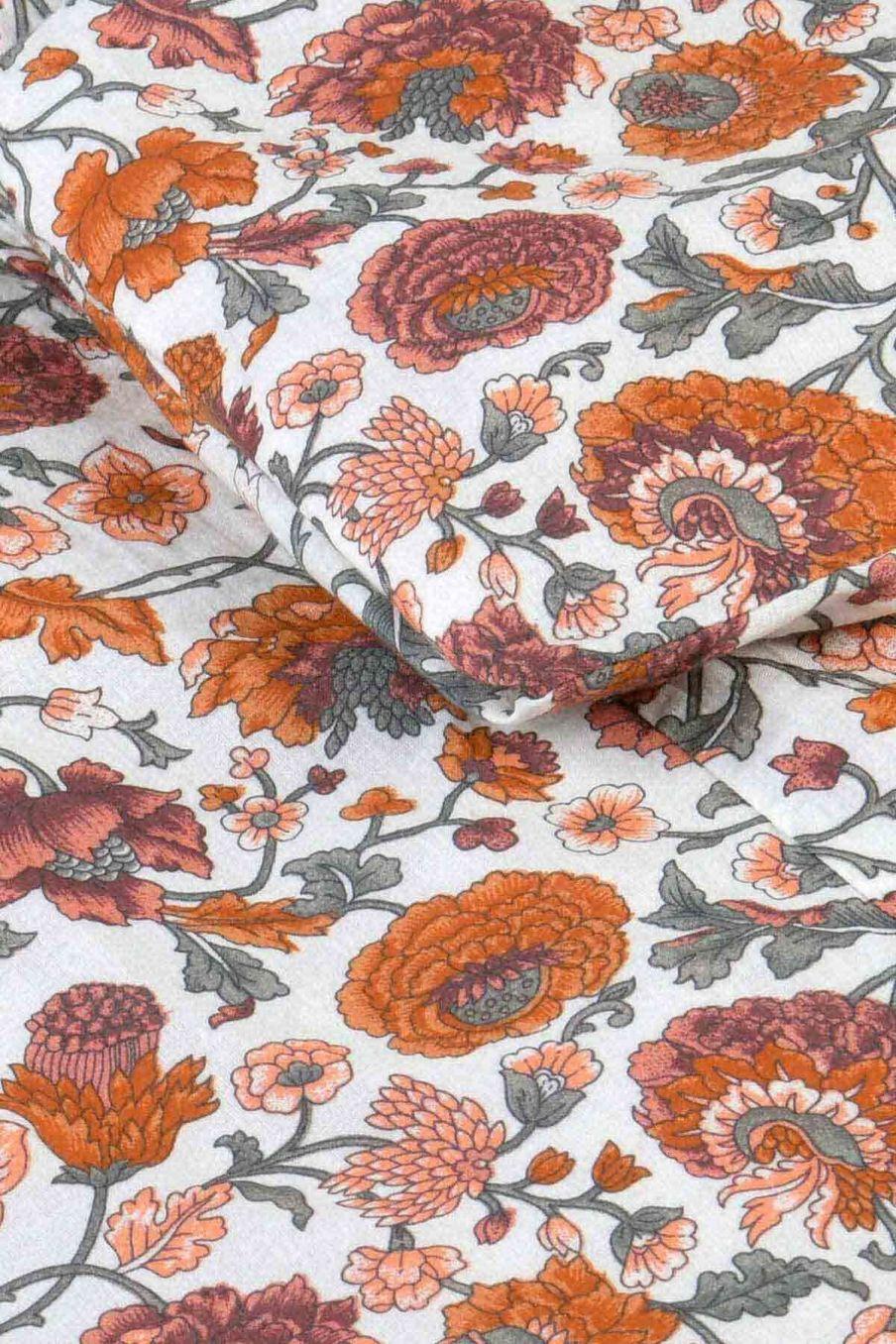 housse de couette maison noemie cream bohemian flowers - louise misha
