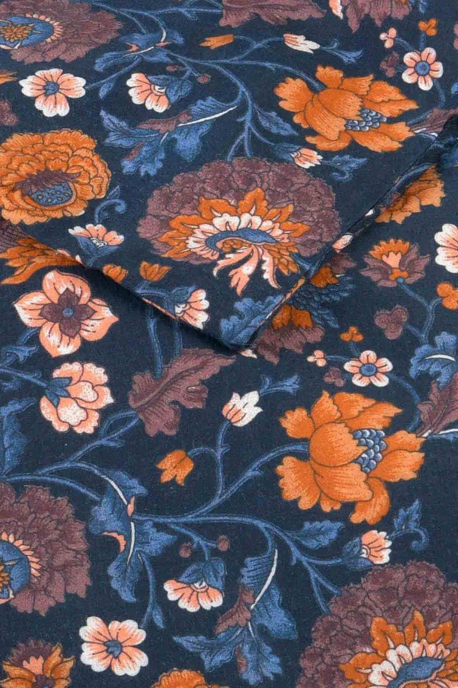 housse de couette maison noemie charcoal bohemian flowers - louise misha