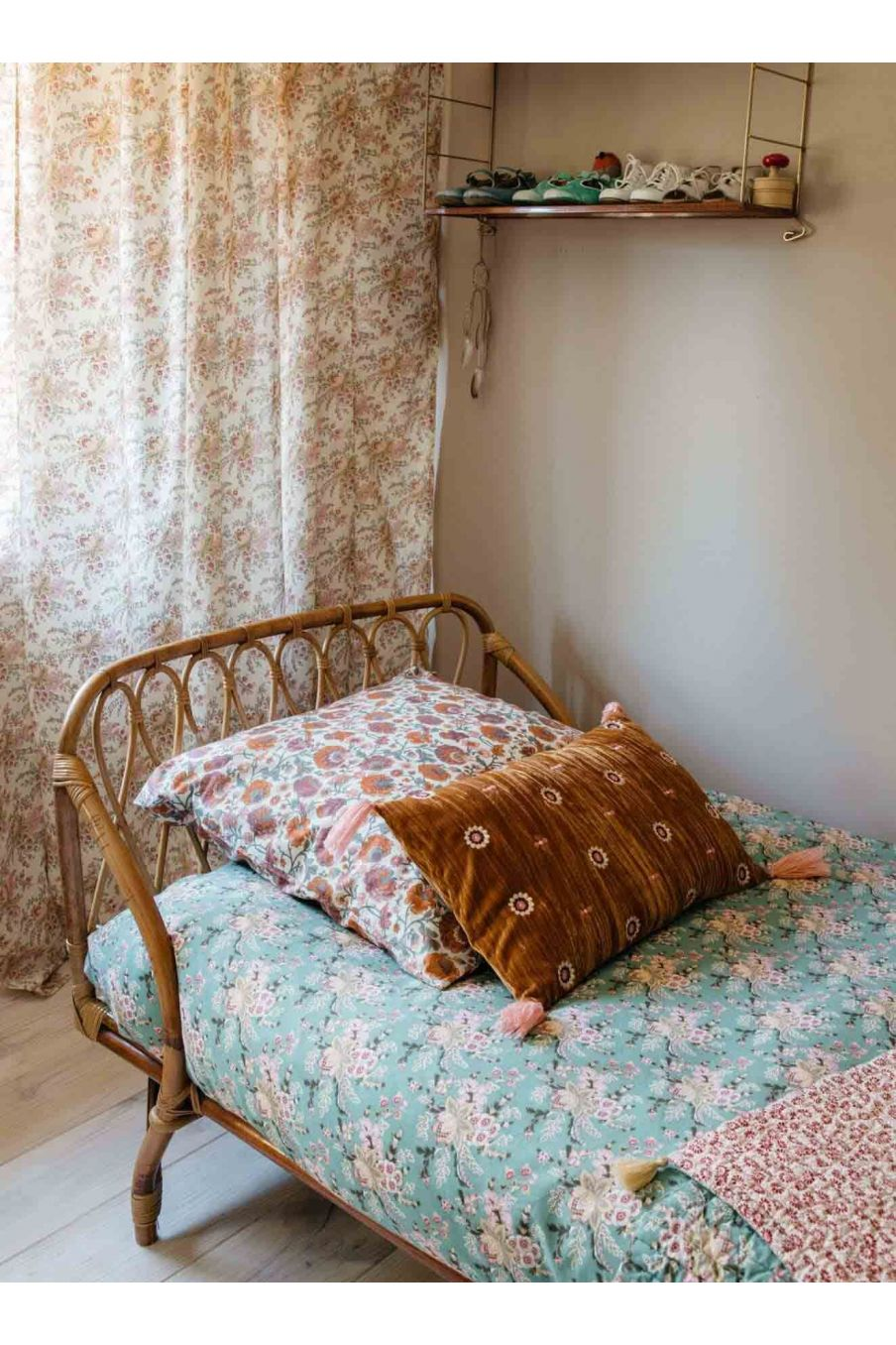 taie d'oreiller maison valerie cream bohemian flowers - louise misha