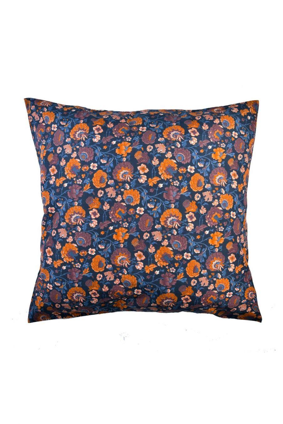 taie d'oreiller maison valerie charcoal bohemian flowers - louise misha