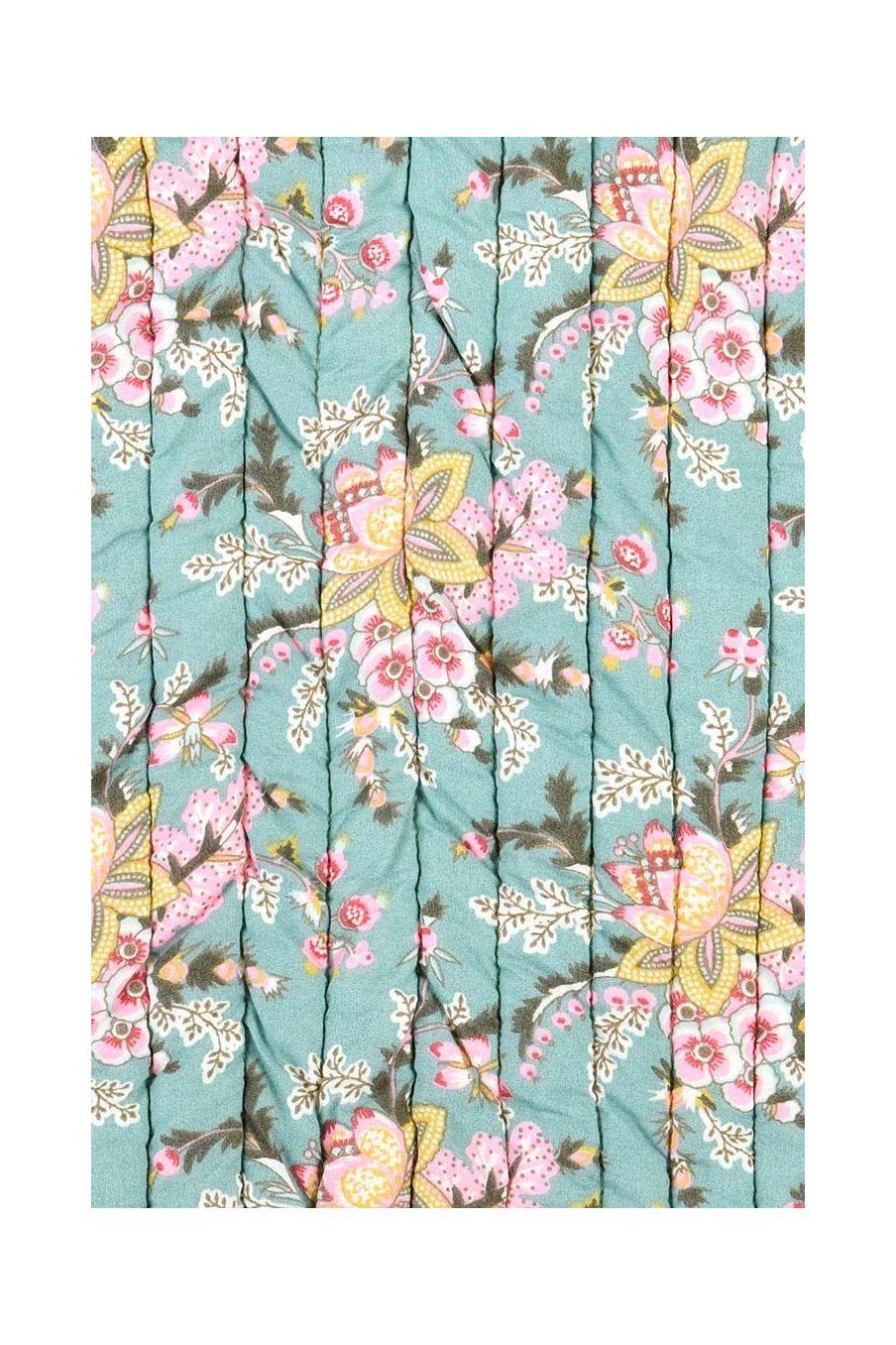 plaid maison antoinette blue french flowers - louise misha