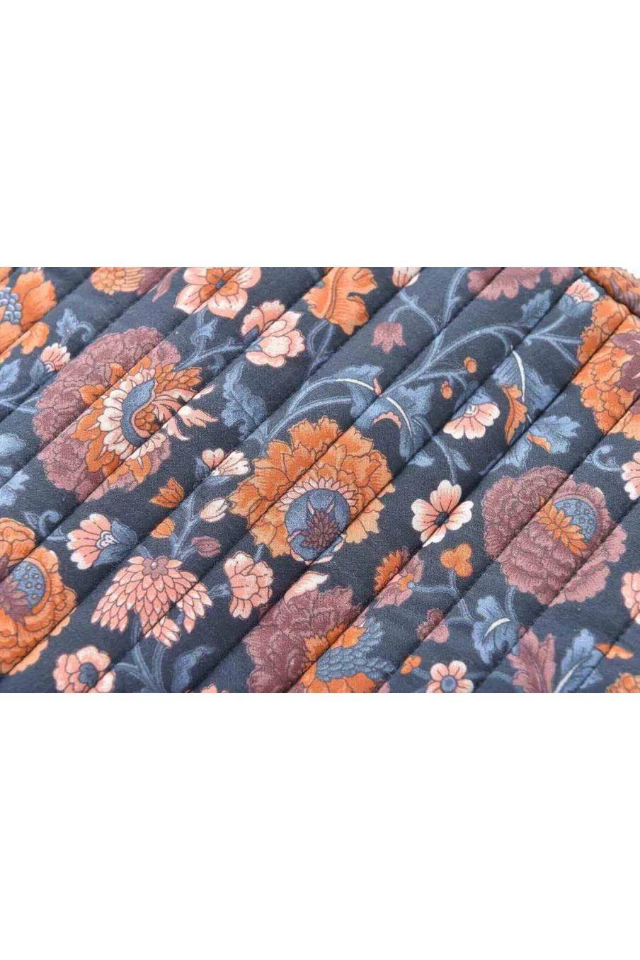 pochette d'ordinateur  maison hoa charcoal bohemian flowers - louise misha