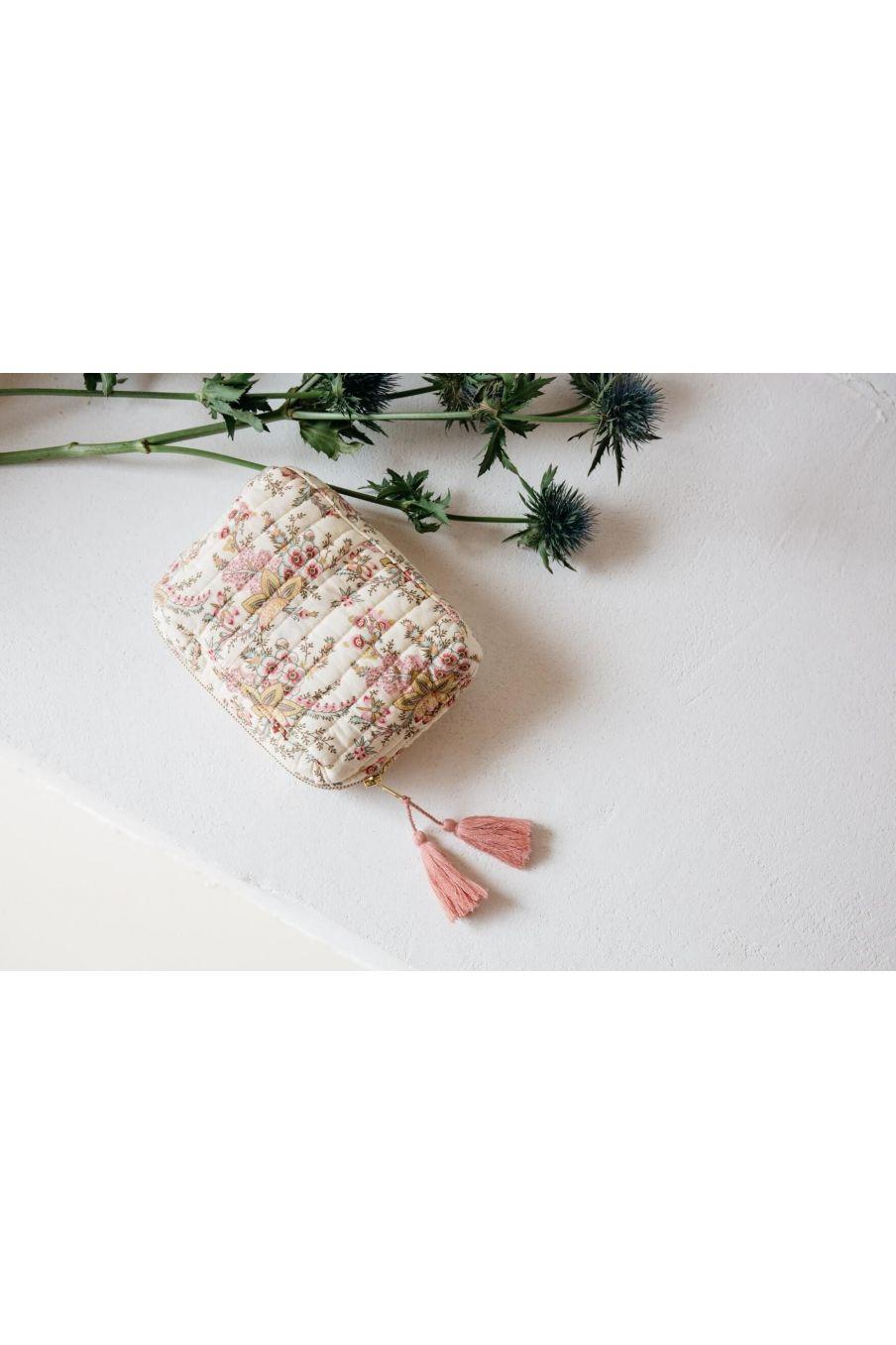pochette maison marya cream french flowers - louise misha